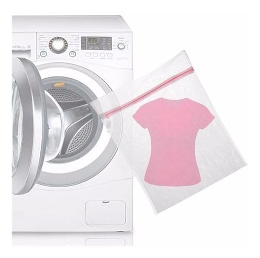Saco Para Lavar Roupas Delicadas Protetor Com Zíper 60x50cm