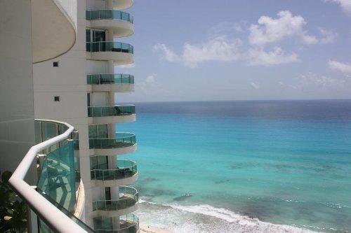 Departamento Amueblado En Renta Frente Al Mar En Bay View Grand De 2 Recámaras, Cancún, Quintana Roo