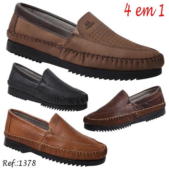Kit Com 8 Pares De Sapatilha Em Couro Gs Shoes Ref.:1378k