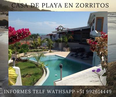 Alquiler Casa De Playa En Zorritos Tumbes