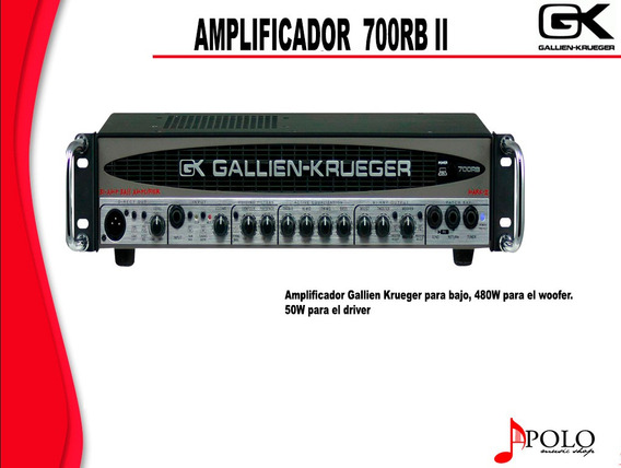 Amplificador Gk P/bajo 700rb Ii