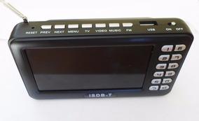 Mini Tv Portatil Digital 4.3 Polegadas C/ Radio Fm Usb E Sd
