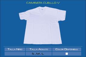cb149c56c6 Camiseta Blanca Cuello V Niño - Ropa y Accesorios en Mercado Libre ...