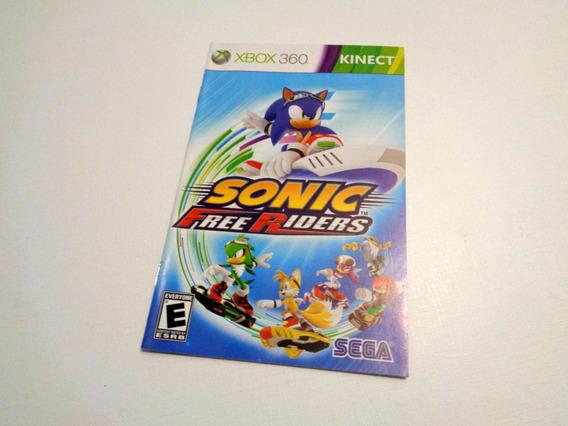 Xbox 360 Manual Original Sonic Free Riders Apenas O Manual