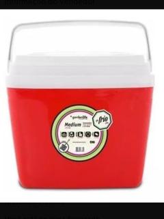 Caixa Térmica 34 L Vermelha, Azul E Verde Cana