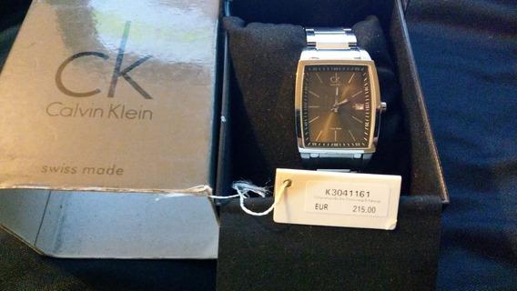 Reloj Calvin Klein Bold Square Swiss Made Nuevo K3041161