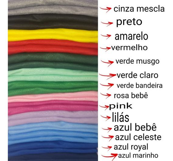 Kit 20 Camisetas Coloridas 100% Poliéster Para Sublimação