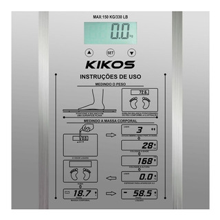 Balança corporal digital Kikos Ison prateada