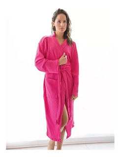 Bata De Baño Para Dama Super Absorbente Suave Rosa