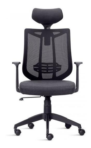 Cadeira Presidente Poltrona Tela Modelo Aika - Soluçãoflex