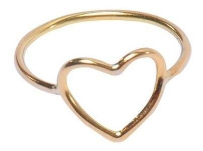 Anel Coração Glamour Florenzza Em Ouro 18k