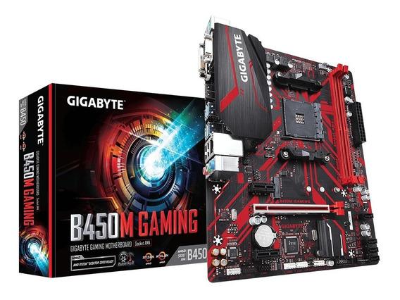Placa Mãe Gigabyte B450 M Gaming Suporta 3ª Geração Ryzen