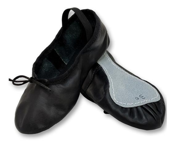 Zapatillas Media Punta De Cuero - Ballet Danza
