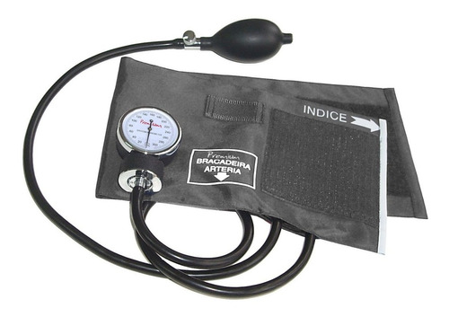 Esfigmomanômetro Aneroide Nylon Cinza Premium