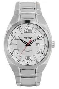 Relógio Orient Masculino Prata Calendário, Visor Branco. P