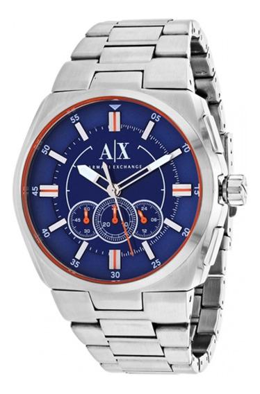 Relógio Armani Exchange Ax1800/1an Azul Prata Masculino
