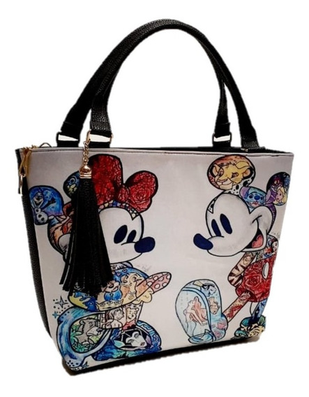 Bolsa M&m Collage Mickey Y Mimmie Mickey Mouse Bolso