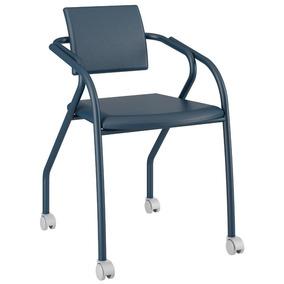 Cadeira Para Escritório 1713 Carraro Rodízios-azul Noturno
