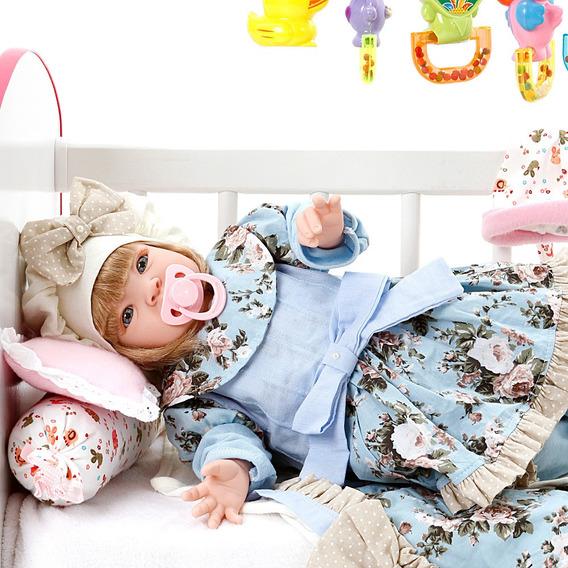 Boneca Bebe Reborn Lavinia Azul Bebe Cegonha Reborn Dolls