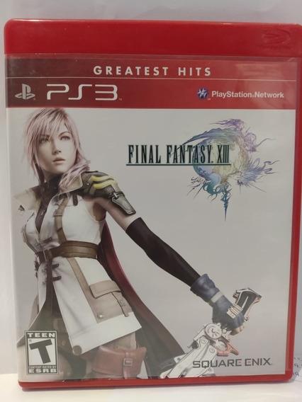 Jogo Ps3 Final Fantasy 13, Sem Riscos Com Manual