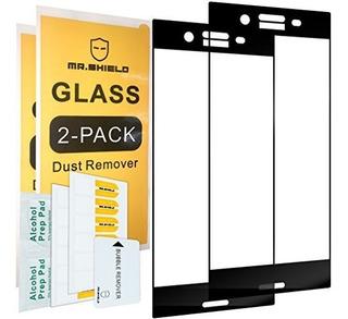 [paquete De 2] -mr Shield Para Sony Xperia Xz Premium [porta