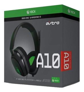 Auriculares Gamer Astro Logitech A10 Xbox Negro Y Verde