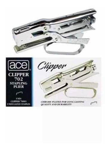 Engrapadora Ace Clipper #702 Tipo Alicate, Metálica.nuevas