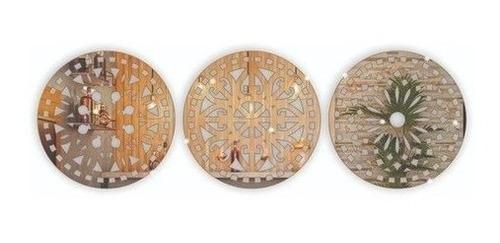 Kit Espelhos Decorativos Mandalas Acrílico Espelhado