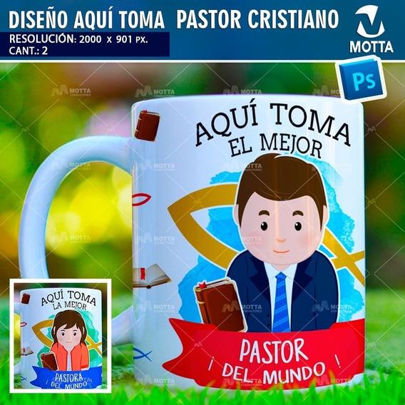 Plantillas Taza Aqui Toma El Mejor Pastor Cristiano