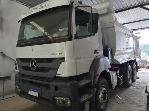 Mercedes-benz Axor 3344 6x4 Ano 2013 Caçamba Meia Cana