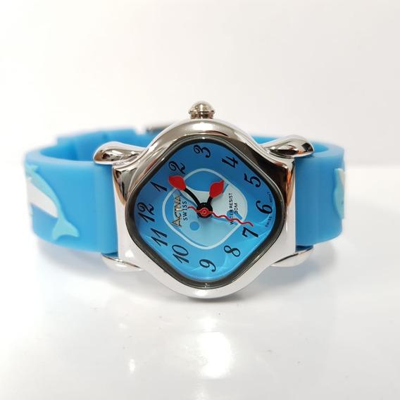 Relógio Infantil Activa Happy Golfinho Swiss Movement Azul