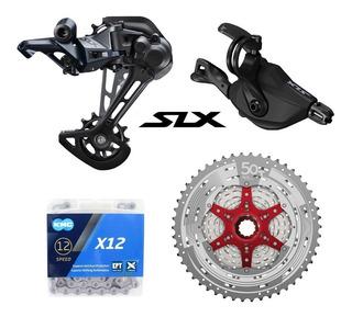 Kit Transmision 12v Shimano Slx M7100 Kmc Sunrace 11-50t