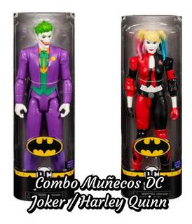 Combo Muñecos Dc Mcfarlane Joker/ Harley Quinn 30cm Articula