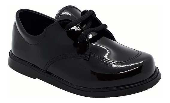 Zapato Bautismo/comunión/fiesta - Bebe-niño C/cordón Negro