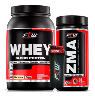 Whey Protein Blend 900g + Zma Testosterona Ftw