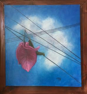 Cuadro Pintura Original - Caída Libre - Oleo