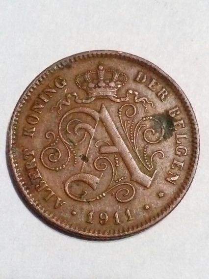 2 Centimes 1911 Bélgica Albert I