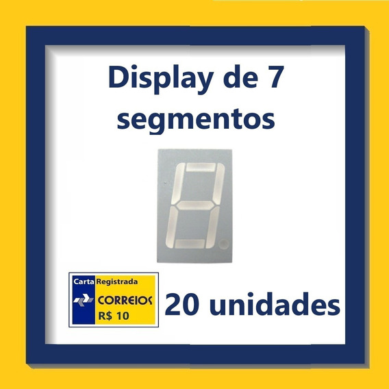 Display De 7 Segmentos - Vermelho - Kit Com 20 Unidades
