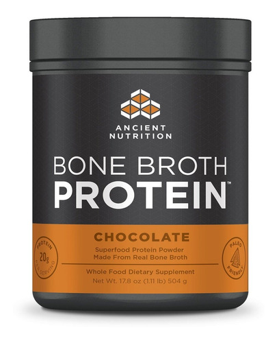 Ancient Nutrition Bone Broth Protein Powder, Chocolate Flavo