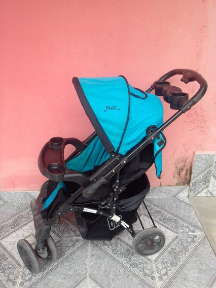 Cochecito Bebe Paseo Cuna Bebesit Belize Azul Negro