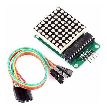 Matriz Led Vermelho Dot 8x8 Com Chip Max7219 Arduino Pic Arm