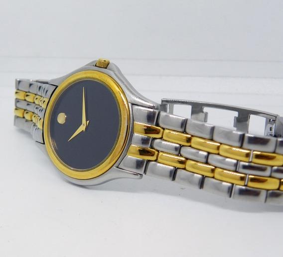 Reloj Movado Museo Caja De Acero&oro Elegante, Mide 35 Mm.