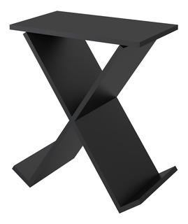 Mesa Auxiliar Negra X/ Revistero