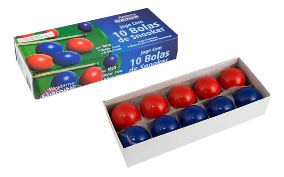 10 Bolas Lisa Mata Mata 52mm / Bilhar / Sinuca / Snooker