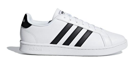 adidas Zapatilla Lifestyle Hombre Grand Court Blanco - Negro