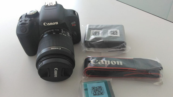 Camera Canon Eos Rebel T7i+lente 18-55mm