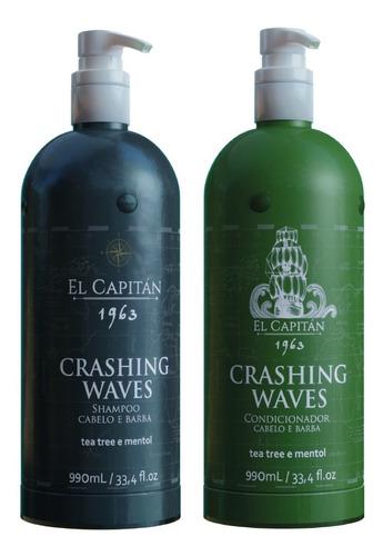 Kit Shampoo + Condicionador El Capitan Crashing Waves 990ml