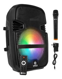 Parlante Portátil Spica Bluetooth Karaoke Microfono Bateria