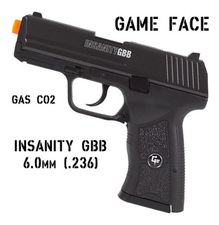 Airsoft Blowback Gás Co2 Pistola Insanity Game Face Crosman