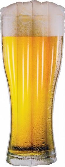 Boia Colchão Inflável Gigante Copo De Cerveja Piscina Belfix
